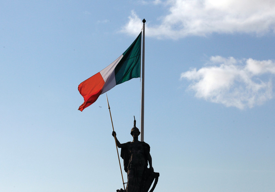 THE IRISH flag atop the historic post office in Dublin.