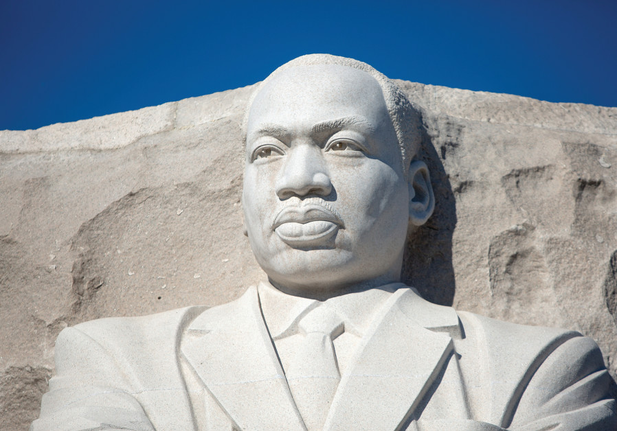 A STATUE of Martin Luther King.
