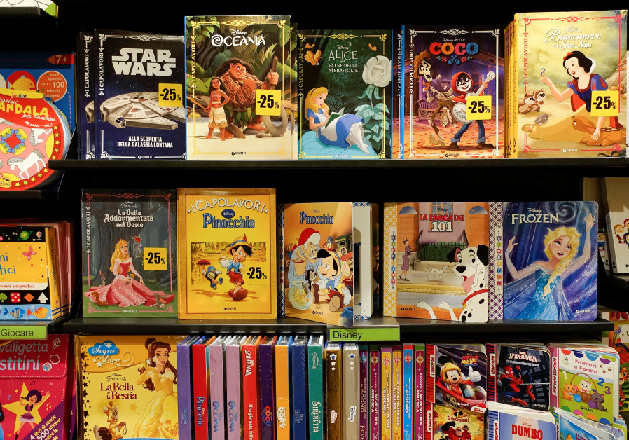 Books for children are seen at the Feltrinelli bookstore in Rome, Italy September 14, 2018