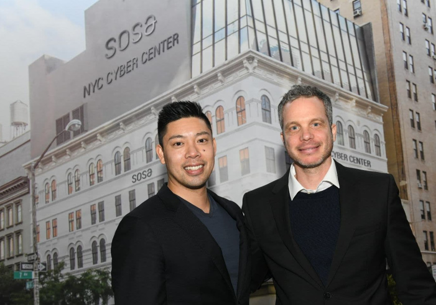 Cyber NYC Managing Director Wilson Lin (L) and SOSA CEO Uzi Scheffer