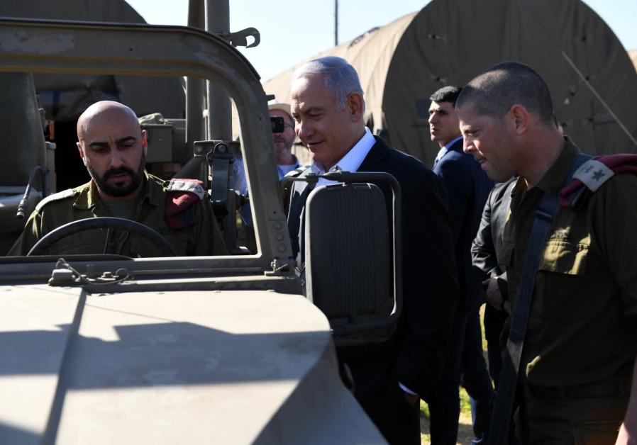 Prime Minister Benjamin Netanyahu visits Sirkin Base