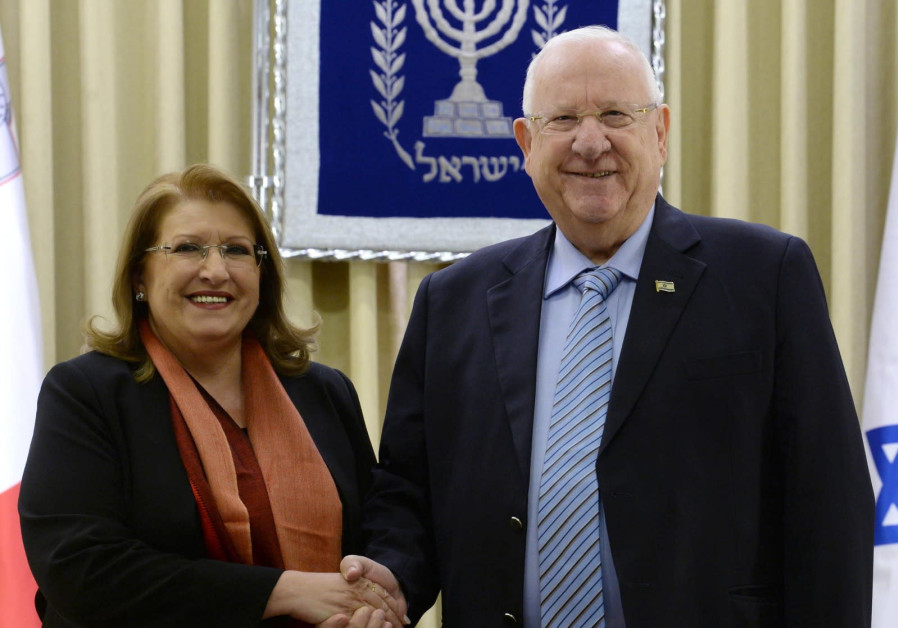 Rivlin to Malta's President: Israelis, Palestinians to stay in this land