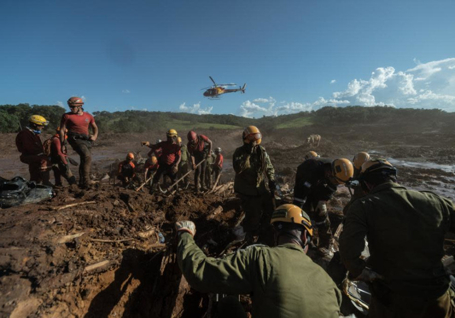 The IDF delegation helping recover bodies after a dam disaster in Brazil