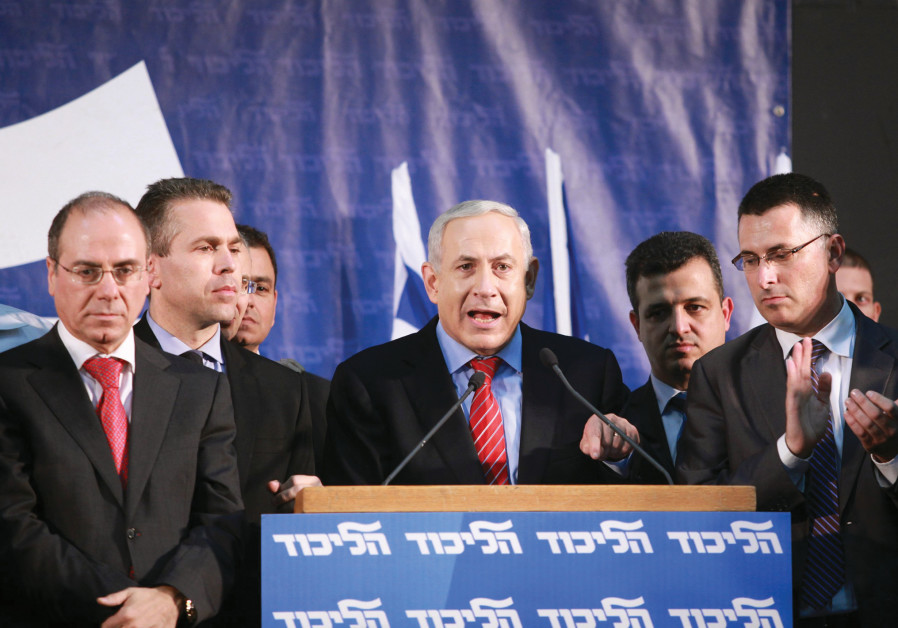 HOW TIMES have changed. Prime Minster Benjamin Netanyahu addresses a Likud primaries event several y