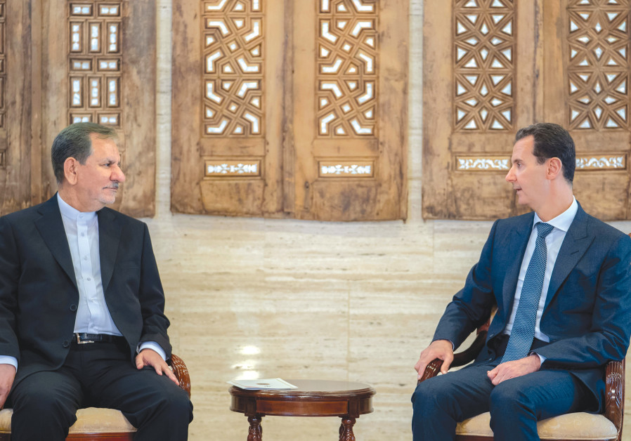IRANIAN VICE President Eshaq Jahangiri meets with Syria's President Bashar Assad in Damascus this we