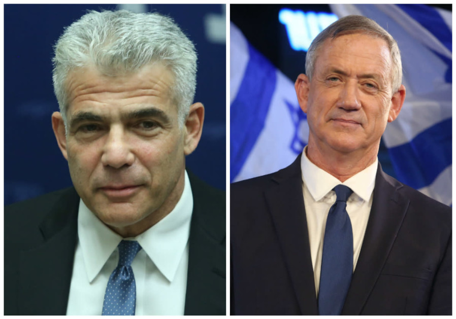 Yair Lapid (L) and Benny Gantz (R)