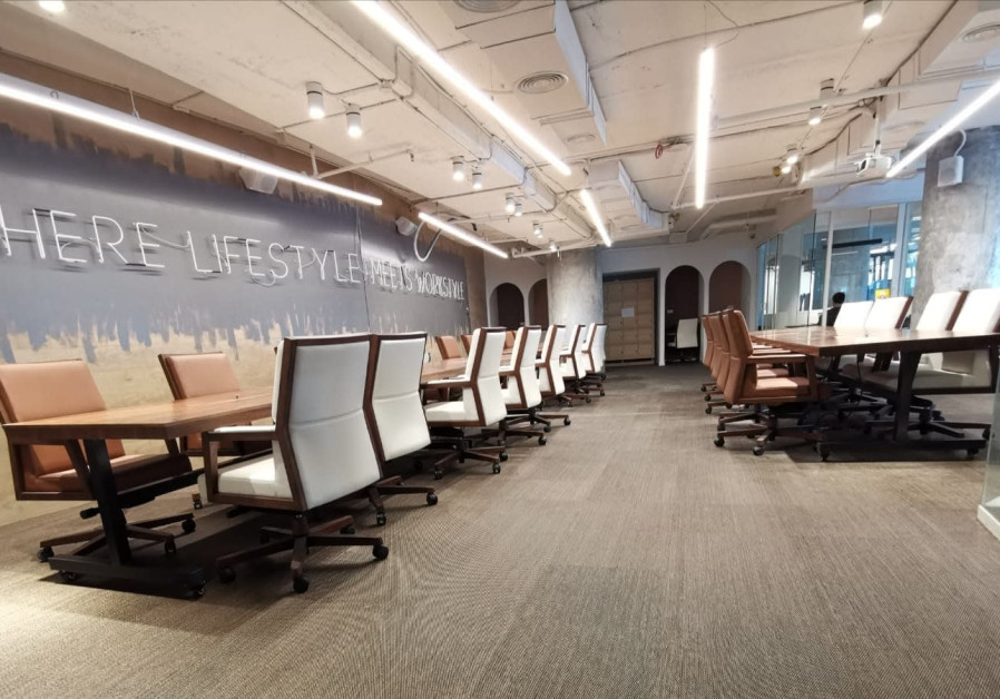 Urban Place's new co-working space above Jerusalem's Central Bus Station (Credit: Urban Place)
