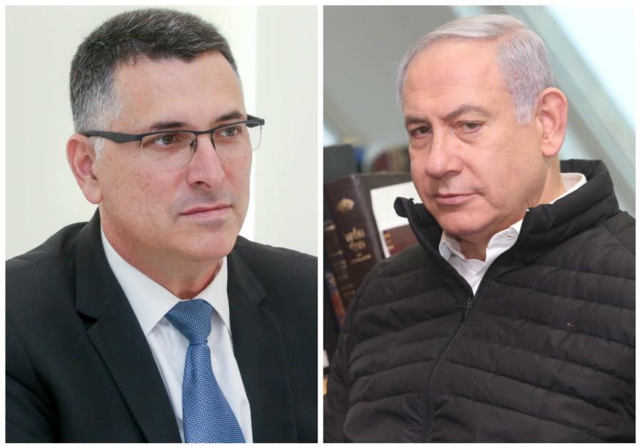 Gideon Sa'ar (E) e Benjamin Netanyahu (E)