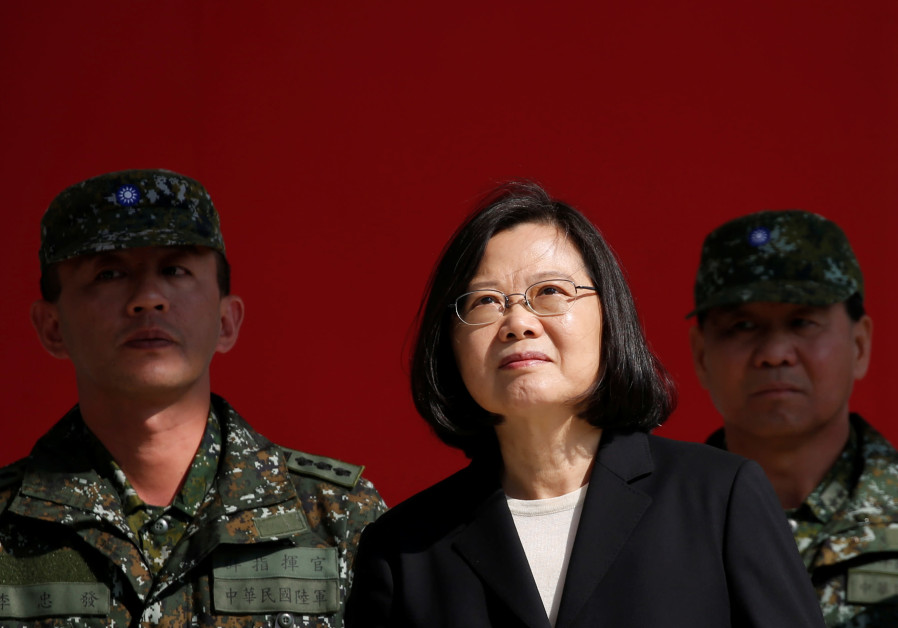Taiwan's President Tsai Ing-wen visits the 6th Army Command, ahead of Lunar New Year, in Taoyuan