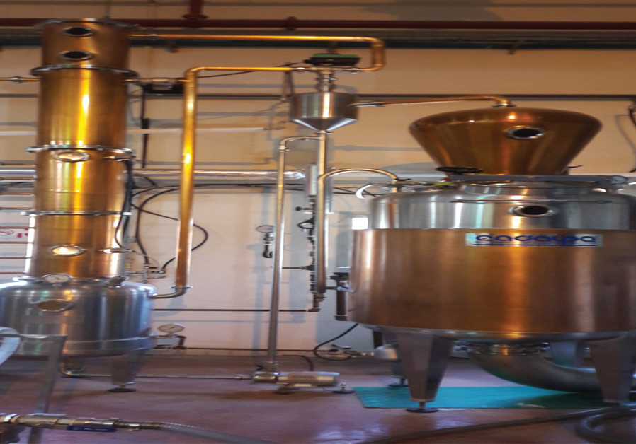 THE STILL used for distillation by the Kawar family.