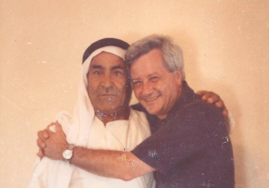 ARNOLD BASKIN and his friend Abu Ali Abu Zghair in Kafr Kara in 1979