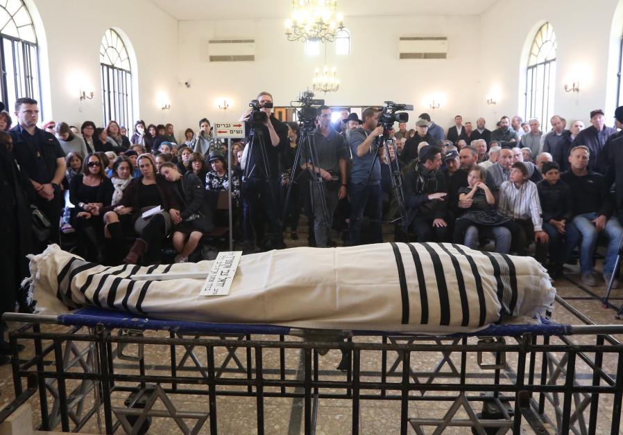 Funeral of Rabbi Yechiel Eckstein