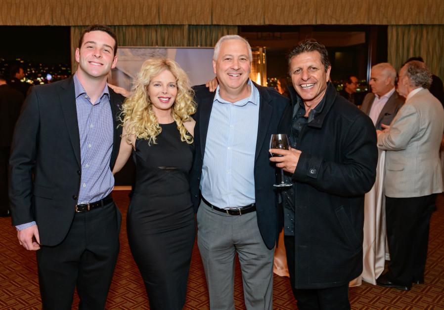 The businessmen  Shabi Cohen, Eli Tene, Lee Ziv and Tene jr (Credit: The Agency)
