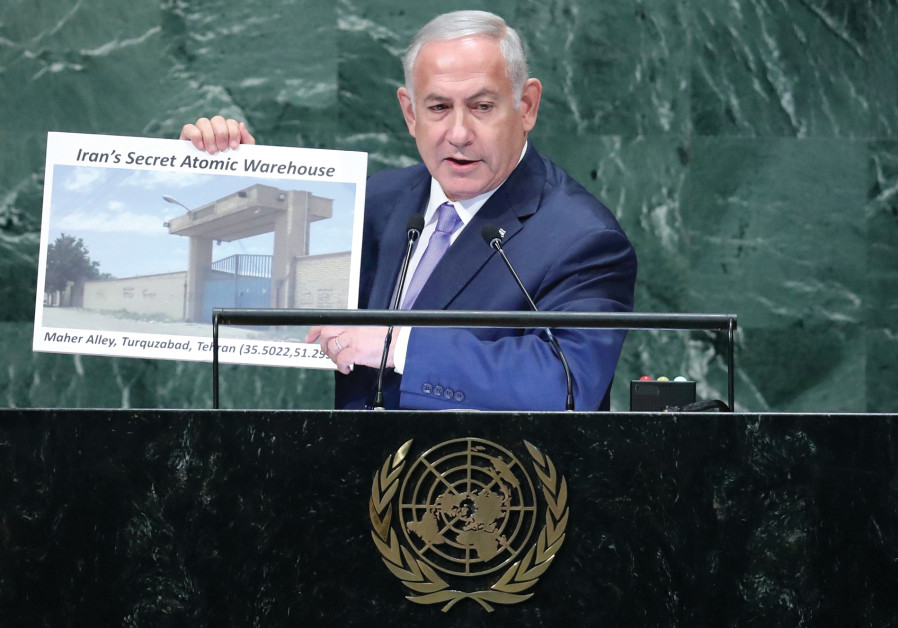 PRIME MINISTER Benjamin Netanyahu addresses the UN General Assembly in New York last year