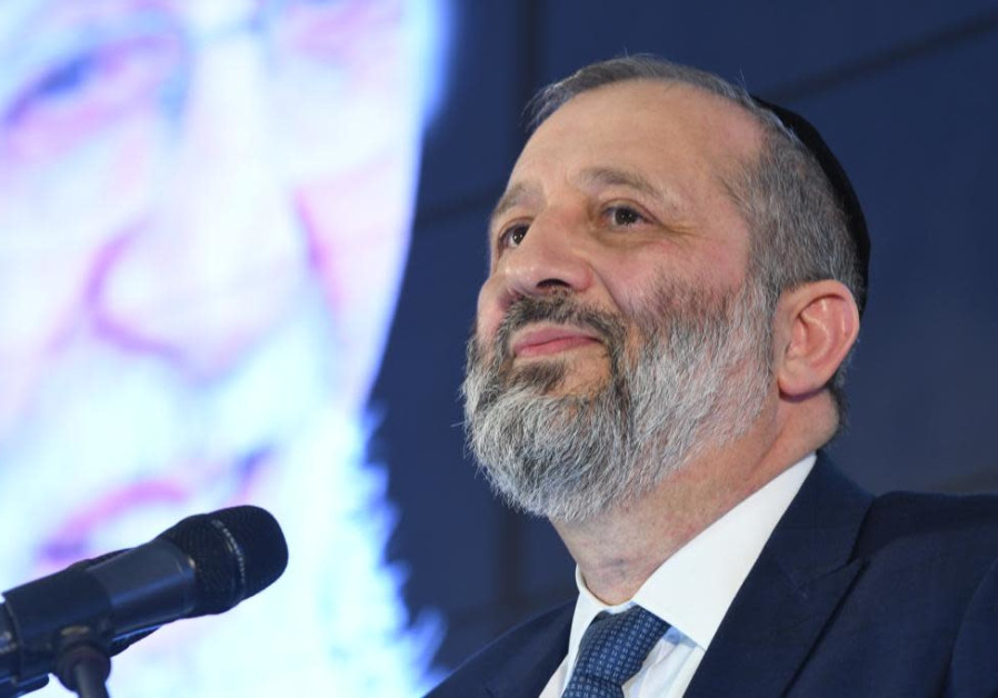 Aryeh Deri during Shas Conference on February 10th, 2019