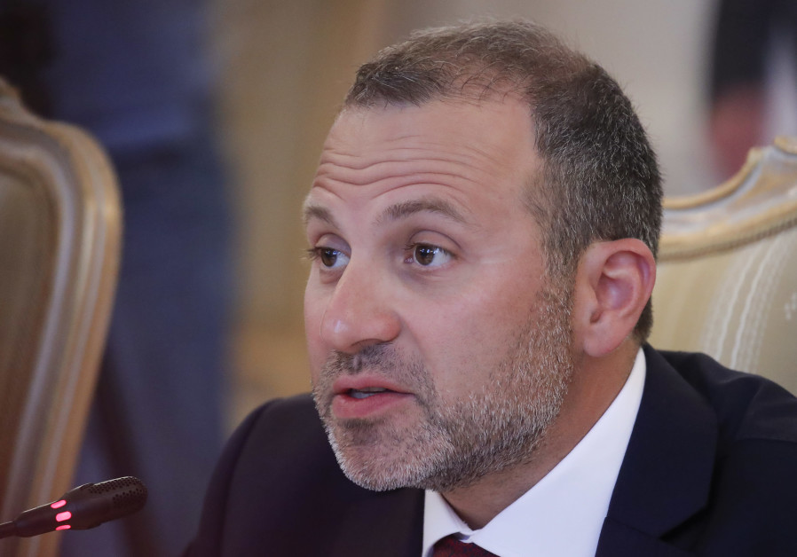 Lebanese Foreign Minister Bassil attends a meeting with his Russian counterpart Lavrov in Moscow