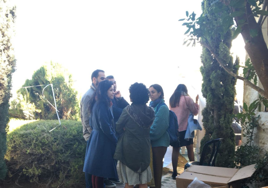 Palestinians and Jews make a joint visit to the shiva house of Ori Ansbacher.