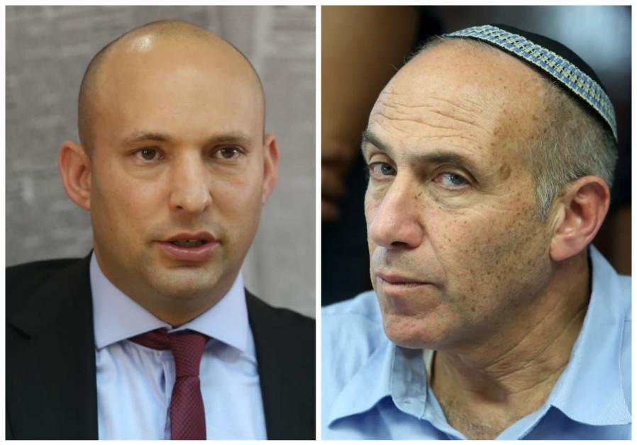 Naftali Bennett (L) and Motti Yogev (R)
