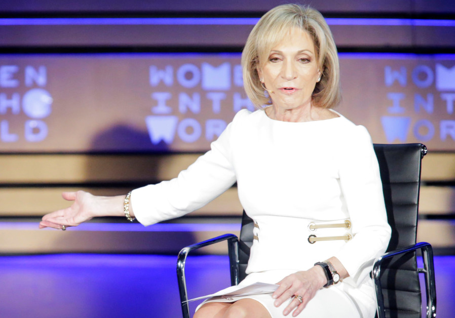 Moderator Mitchell speaks during the Women In The World Summit in New York