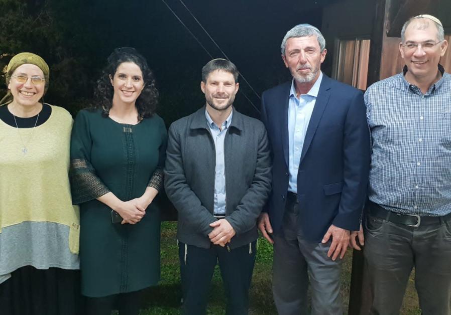 MK Orit Struck, Bayit Yehudi candidate Yifat Ehrlich, National Union chairman Bezalel Smotrich, Bayi