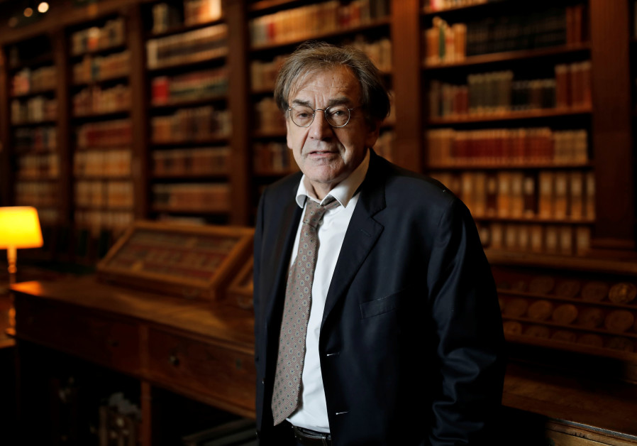 Alain Finkielkraut in the Institut de France library, Paris, France, December 1, 2016.