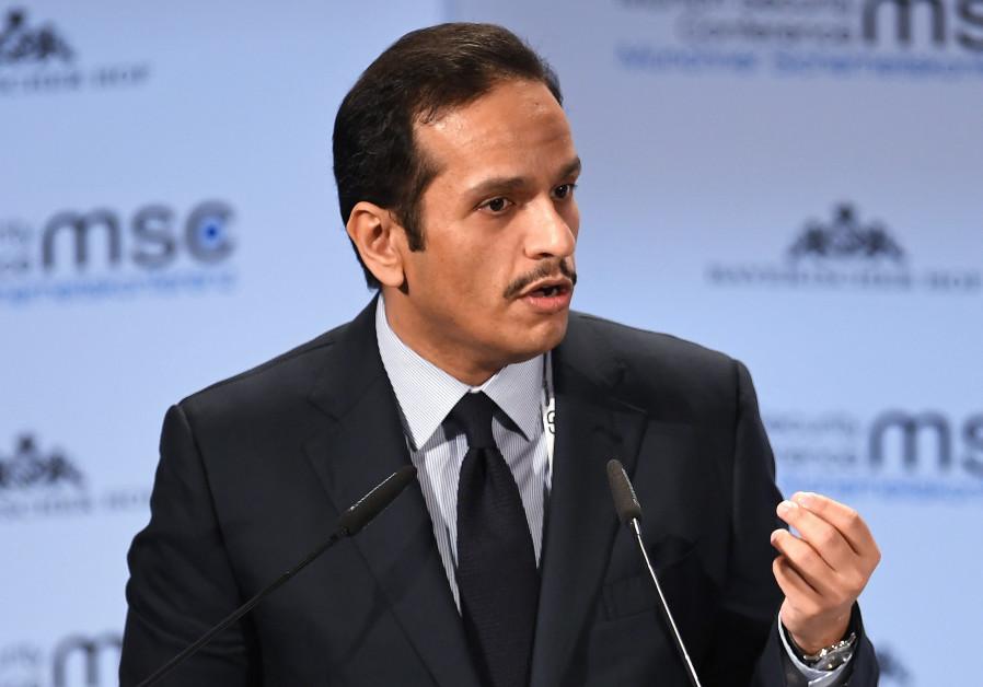 Qatar's Foreign Minister Sheikh Mohammed bin Abdulrahman Al-Thani speaks during the annual Munich Se