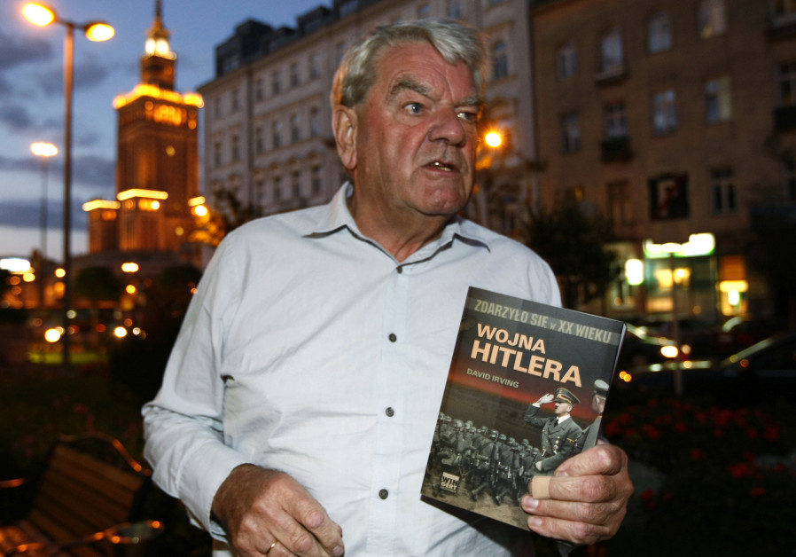 David Irving, the British Holocaust-denier, speaks to Reuters during an interview in Warsaw Septembe