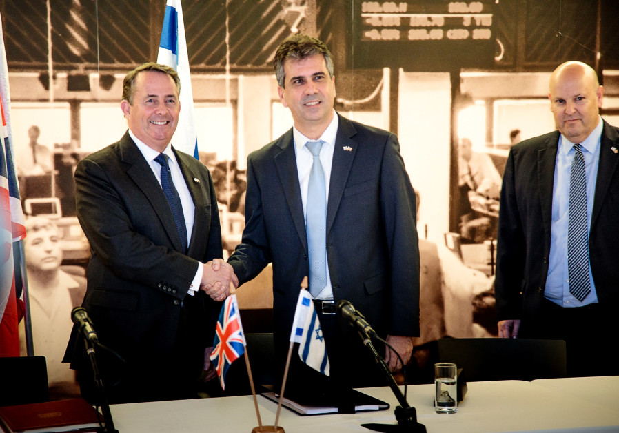 conomy Minister Eli Cohen and British Secretary of State for International Trade Liam Fox