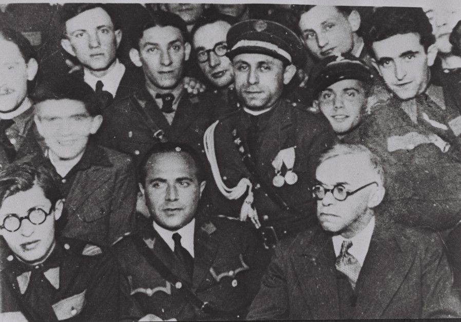 Zev Jabotinsky, Menachem Begin, Aaron Zvi Propes and other Betar members meeting in Warsaw, January 1, 1939. Credit: GPO Archives / Wikimedia Commons