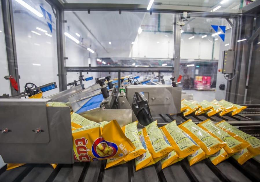 Osem's new Bamba production factory in Kiryat Gat (Credit: PR)