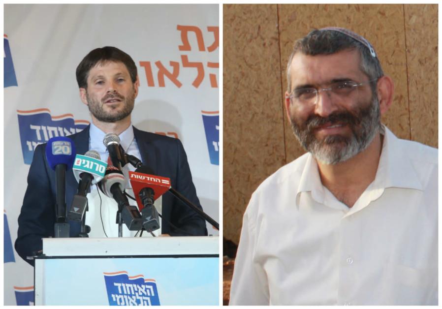 Betzalel Smotrich (L) and Michael Ben-Ari (R)