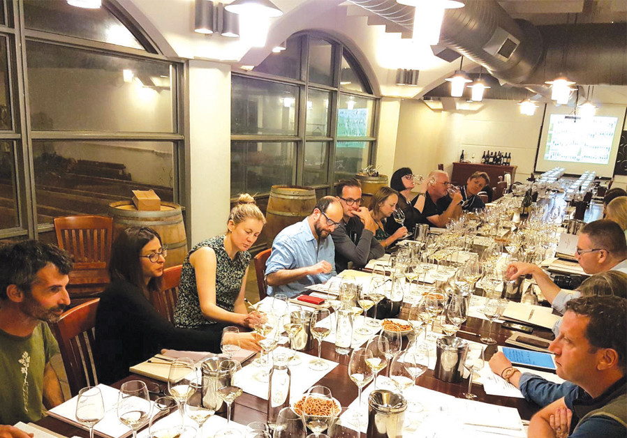 TWELVE MASTERS of Wine taste the vintages at Golan Heights Winery (Courtesy)