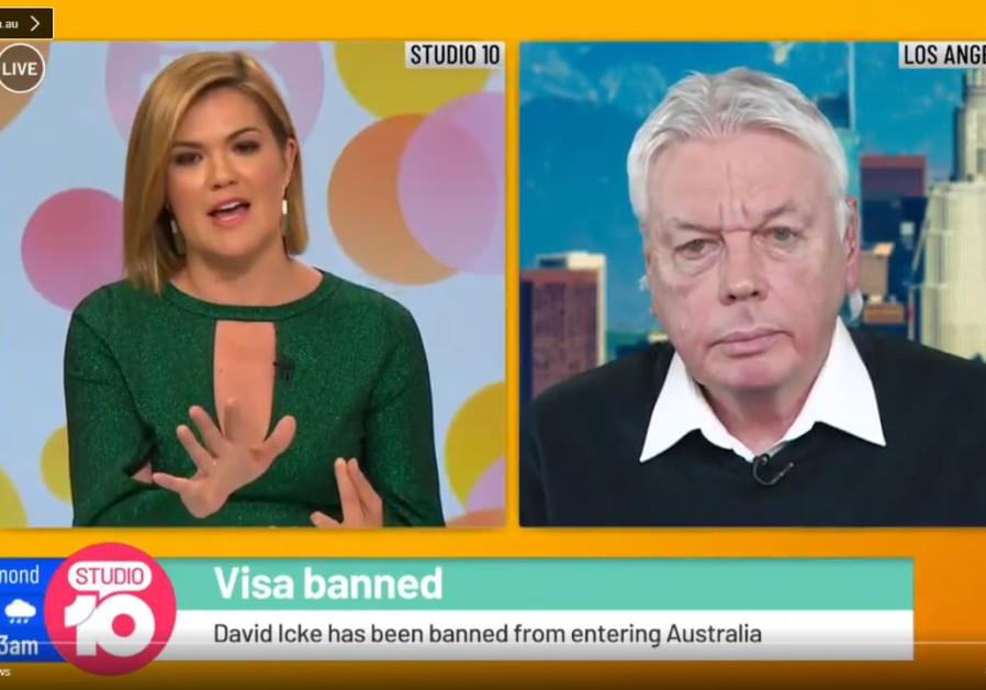 David Icke in an interview with Australian TV.