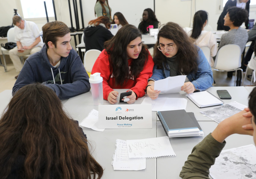 """Ninety students from around the world take part in a """"peace-process"""" simulation"""