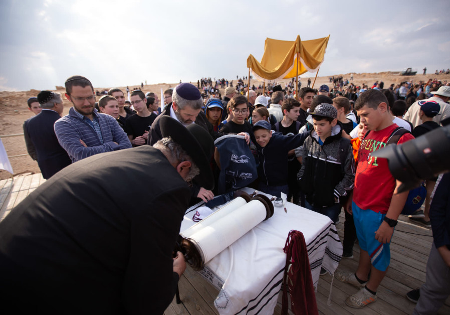 More than 800 school children from the Gaza Envelope and donors from North America gathered at Masada's ancient ruins