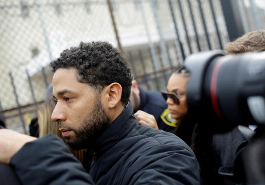 Jussie Smollett exits Cook County Department of Corrections after posting bail in Chicago, Illinois