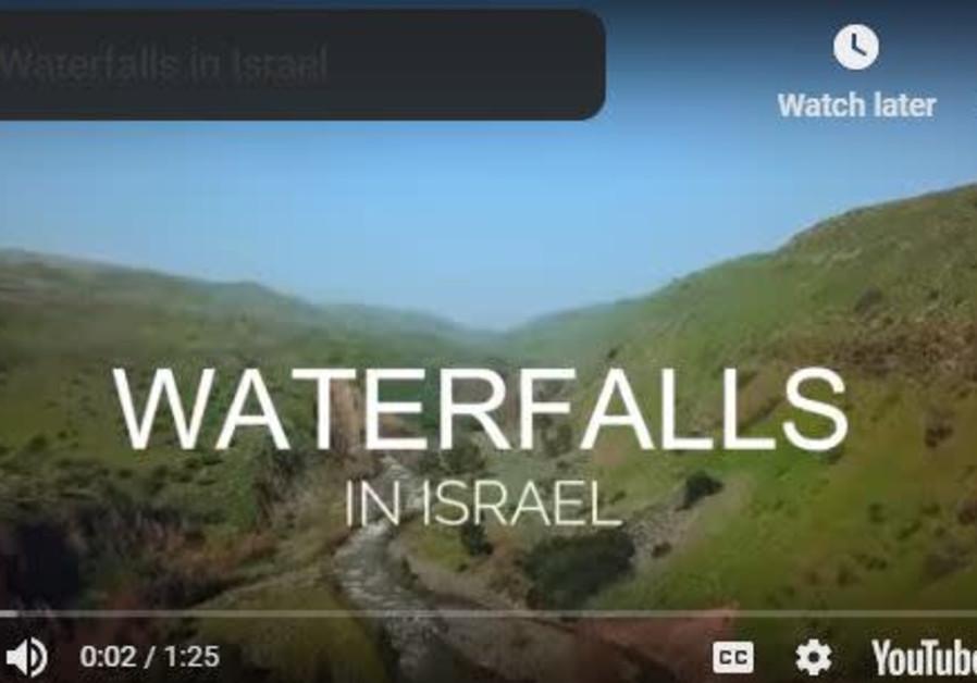 Waterfalls in Israel.