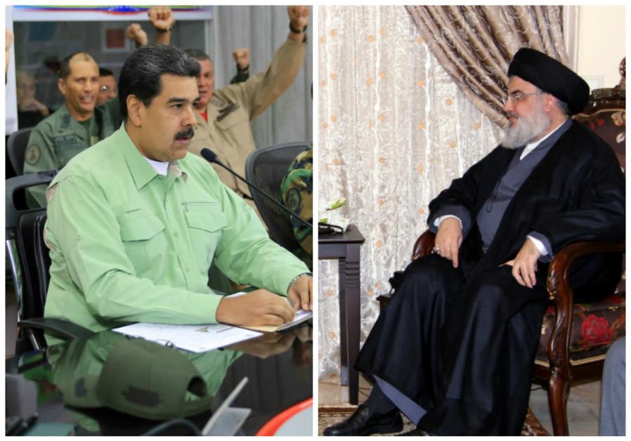 Nicolas Maduro (L) and Hassan Nasrallah (R)