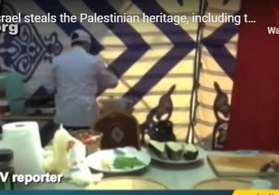 Palestinian reporter claims Israel stole humus from the Palestinians.