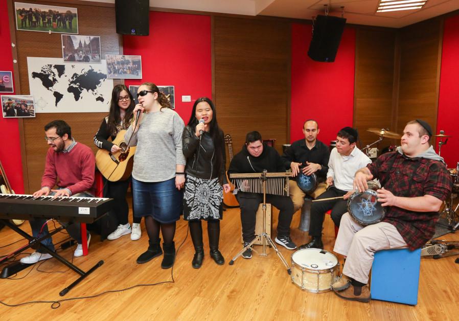 The Shalva Band rehearses in Jerusalem last week.
