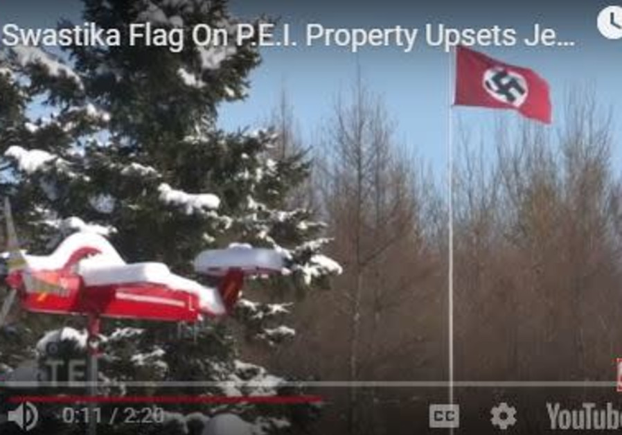 Nazi flag flown in Canada.