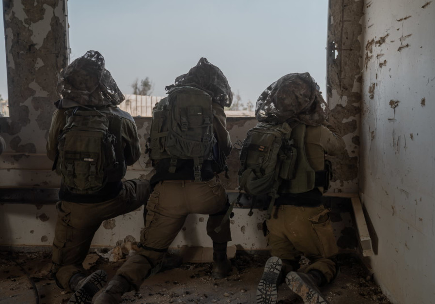 Soldiers taking part in an IDF drill simulating war with Hamas