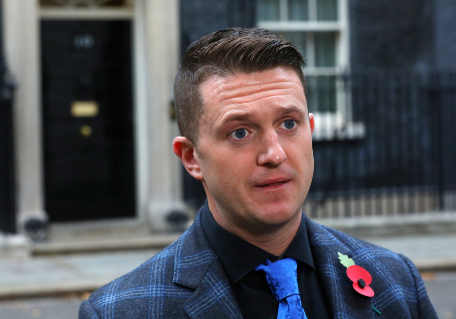 Far right activist Stephen Yaxley-Lennon, who goes by the name Tommy Robinson.