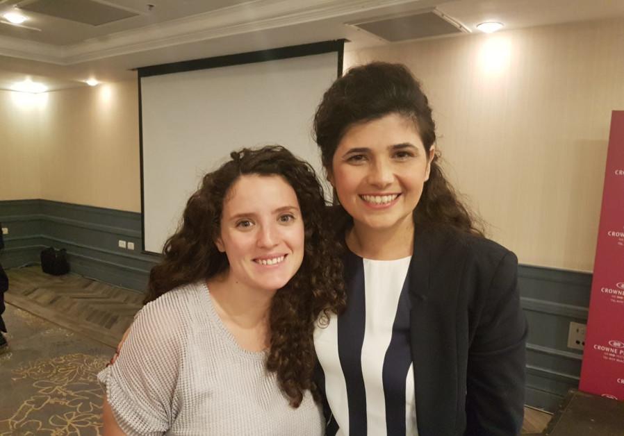 Rachel Broyde (L) and Likud MK Sharren Haskel (R)