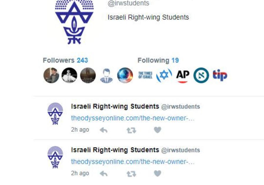 Fake Twitter profile