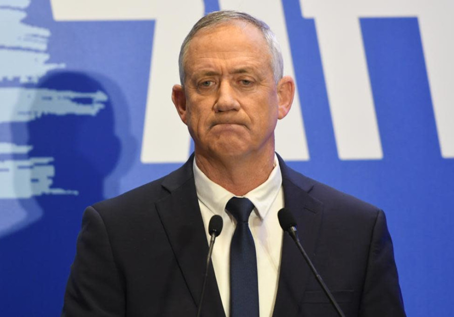 Image result for Gantz demands AG probe whether Netanyahu leaked Iran phone hack claims