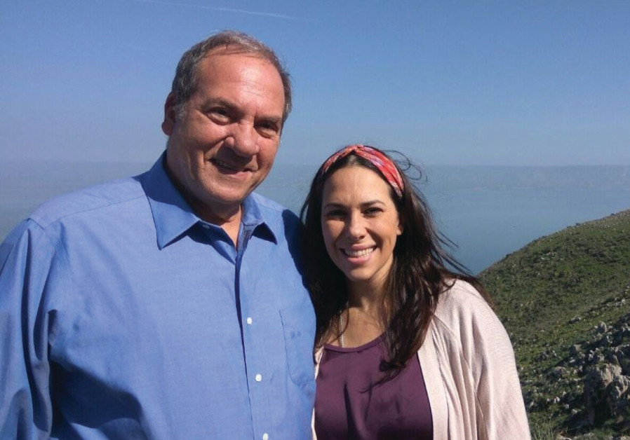 RABBI YECHIEL ECKSTEIN and his daughter Yael at Mount Arbel in the Galilee