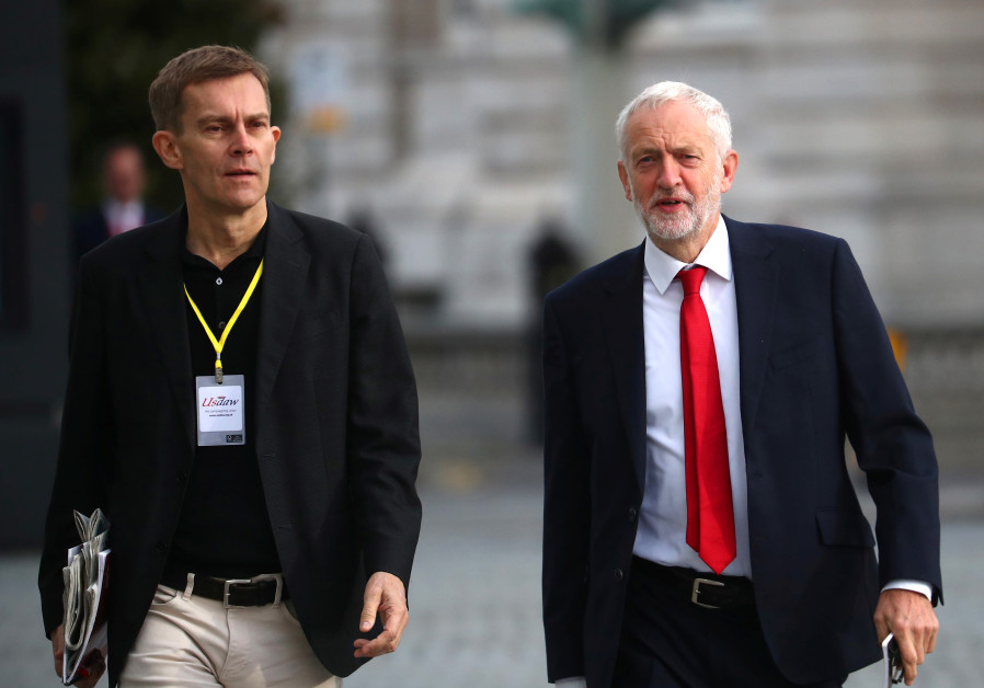Britain's Labour Party leader Jeremy Corbyn with Seumas Milne.