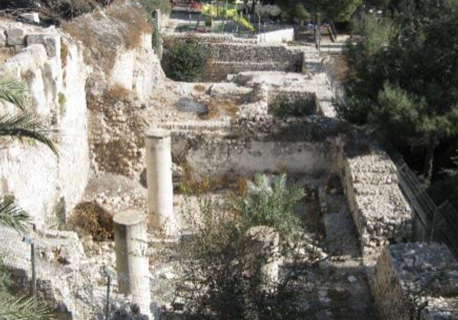Remains from the crusader church