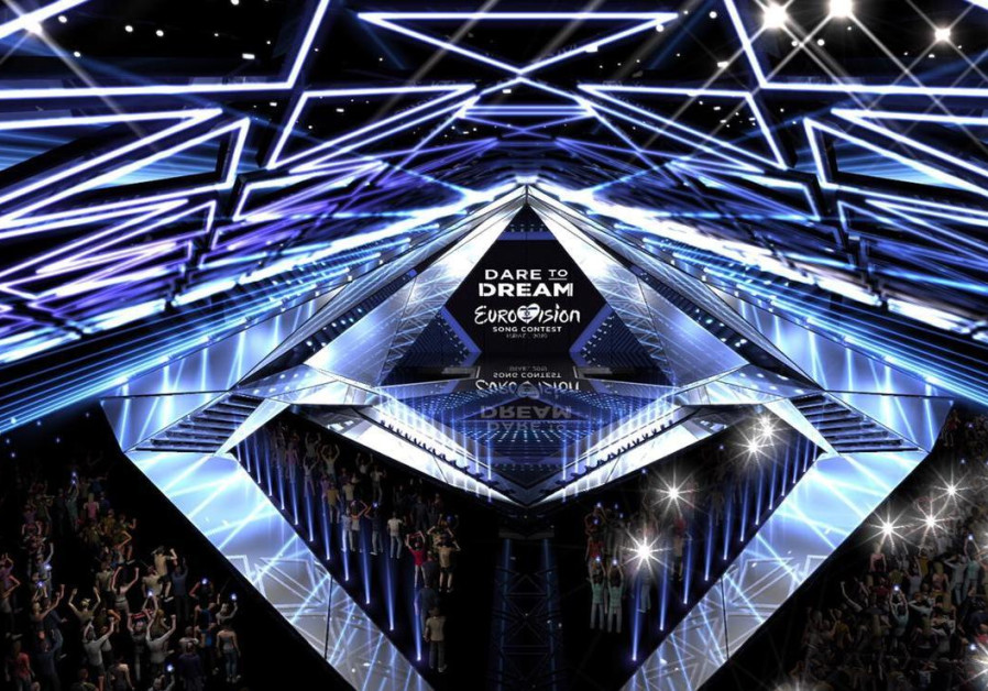 An artistic projection of the 2019 Eurovision stage in Tel Avi